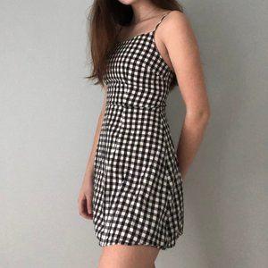 Checkered Black and White Dress